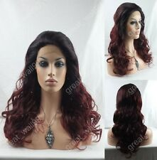"""18""""-28"""" New ! high quality HAND TIED Synthetic Hair lace front  full wig #1T99J"""