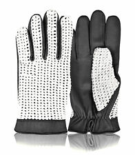 CLASSIC MENS DRIVING GLOVES QUALITY SOFT GENUINE LEATHER FASHION VINTAGE RETRO