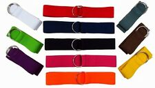Brand New Stretch Webbing ELASTIC 2 RING SILVER BUCKLE Nurse Belt - MANY COLORS