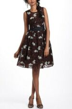 NWT Anthropologie Chrysanthemum Tea Dress