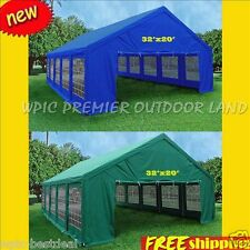32' x 20' Heavy Duty Party Wedding Tent Canopy Carport - 2 Colors  Blue or Green