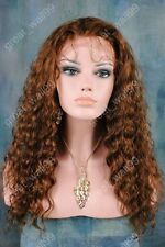 """full lace wigs 100% Indian remy human hair 12""""-20"""" deep  wave #1 #1B #2 #4"""