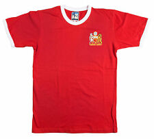Retro Manchester United 1970s Football T Shirt New Sizes S-XXL Embroidered Logo