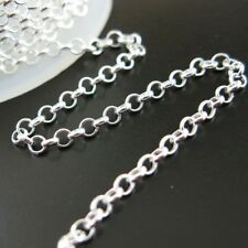 Sterling Silver Rolo Chain 2mm Bulk Lots By The Foot. 925 Made in Italy Silver