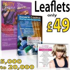 A4, A5, A6 or DL leaflets / flyers on 150gms Printed Full Colour + Free Posters