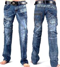 MENS KOSMO LUPO JEANS (RRP £70.00) KM322 DESIGNER TAPERED FIT.