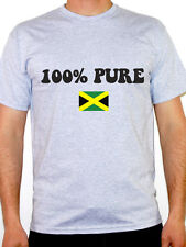 100% PURE JAMAICAN - Jamaica / Caribbean / Flag / Novelty Themed Mens T-Shirt