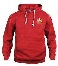 Retro Manchester United 1970s Football Hoodie New Sizes S-XXXL Embroidered Logo