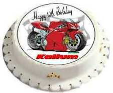 PERSONALISED BIRTHDAY CAKE TOPPER / MOTOR BIKES - PERSONALISE WITH ANY NAME FREE