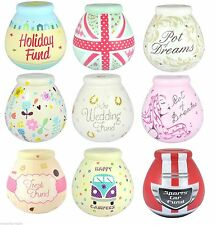 POT OF DREAMS  MONEY BOX PIGGY BANK SAVINGS GIFT - BREAK TO OPEN  - BRAND NEW!
