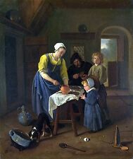 Photo/Poster - Peasant Family At Meal Time Grace Before Meat - Steen Jan 1626 16