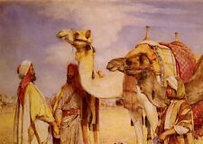 Photo/Poster - The Greeting In The Desert Egypt - John Frederick Lewis 1805 1876