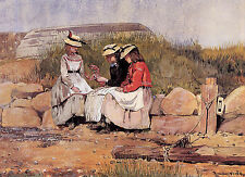 Art Print - Girls With Lobster Aka Fisherman'S Daughter - Winslow Homer 1836 191