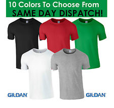 GILDAN PLAIN HEAVY COTTON T SHIRT TSHIRT WHITE BLACK GREEN BLUE RED SUMMER MENS