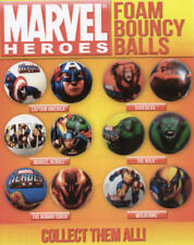 MARVEL HEROES FOAM BALLS CAKE TOPPERS WOLVERINE IRONMAN