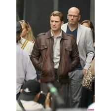 Movie The Avengers Steve Rogers Brown Leather Jacket BNWT
