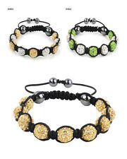 Diamond Crystal Bead Balls Shamballa Bracelet 10mm Crystal Disco Bracelet +Box