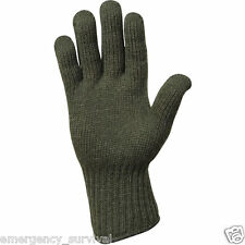 Military GI Wool Glove Liner Liners Gloves Made in USA - Olive Drab