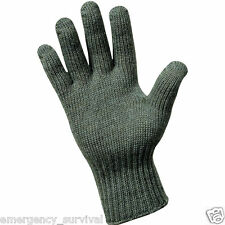 Military GI Wool Glove Liner Liners Gloves Made in USA - Foliage Green