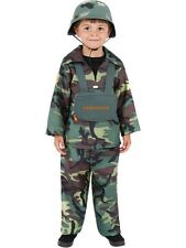 SALE! New Kids Army Soldier Combat Uniform Boys Fancy Dress Costume Party Outfit