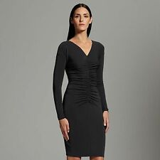 NWT Narciso Rodriguez for DesigNation lovely black ruched sheath dress MSRP $70!