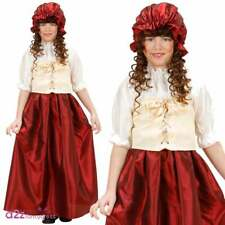 Girls Victorian Tudor Peasant Girl Serving Wench Medieval Fancy Dress Costume