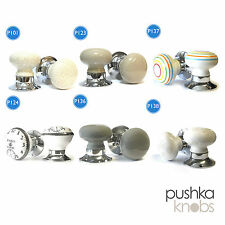 Ceramic Mortice Internal Turning Spring Loaded Door Knobs kitchen bedroom