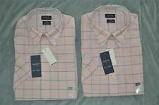 Arrow Dover Oxford Mens Dress Shirt Short Sleeve Powder Pink Multiple Sizes NWT