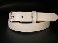 Children's real leather belts in white