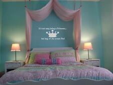 If the Crown Fits - princess vinyl wall art decal sticker girl bedroom decor