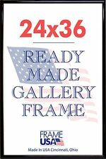 24 x 36 Deluxe Poster Frame Pack of 3 Frames - Black, Silver or Gold