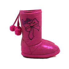 *BNWT* CUTE GIRLS BARBIE SPARKLY SLIPPERS BOOTS BOW POM POMS