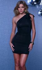 FREE SHIPPING! Black Convertible Mini Dress With Versatile Straps Hot New 883444