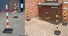 """90cm 36"""" Upvc Plastic post with base for garden and barrier chain link fence"""