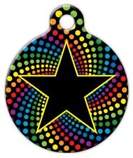 STAR ON RAINBOW - Custom Personalized Pet ID Tag for Dog and Cat Collars