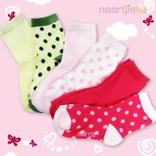 Naartjie Girls Polka Dots & Solids Short Crew Socks 6 Pairs Pack NWT