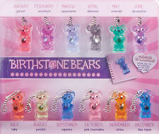 BIRTHDAY BEARS MINI KEYCHAIN BACKPACK ZIPPER PULL PARTY FAVORS BIRTHSTONE JEWELS