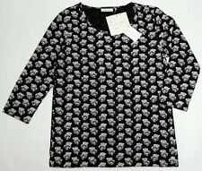 UNIQLO WOMEN CABBAGES & ROSES 3/4 SLEEVE T-SHIRT Black (075691)
