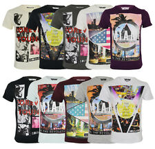 New Soul Star Men's Photo Print Cotton T-shirt Graphic Printed Design Top City