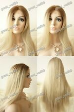 """18""""-28""""  high quality lace front full wig HAND TIED Synthetic Hair  #6T16/1001"""