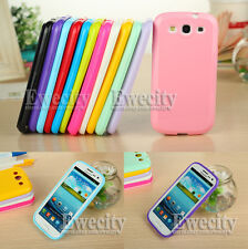 Silicone Rubber Gel Case Cover For Samsung Galaxy S3 III i9300 Screen Protector