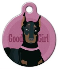 GOOD GIRL - DOBERMAN - Custom Personalized Pet ID Tag for Dog and Cat Collars
