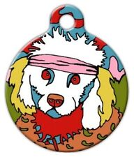 SKIPPY THE POODLE - Custom Personalized Pet ID Tag for Dog and Cat Collars