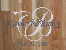 Personalized Wedding/Family Monogram vinyl wall art decal removable sticker