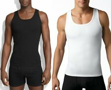 NEW SPANX Men COTTON COMPRESSION Firm Chest Tank Top Under Shirt Black White