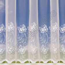 NEW EMBROIDERED BUTTERFLY LUXURY QUALITY NET VOILE CURTAIN SOLD BY THE METRE
