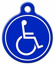 HANDICAPPED SYMBOL - Custom Personalized Pet ID Tag for Dog and Cat Collars