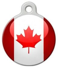 CANADIAN FLAG - Custom Personalized Pet ID Tag for Dog and Cat Collars