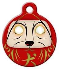 DARUMA DOG - Custom Personalized Pet ID Tag for Dog and Cat Collars
