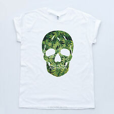 Skull Weed Tee Wasted Hipster Dope Swag Grass Fresh McQueen Sk8r OFWGKTA T-shirt